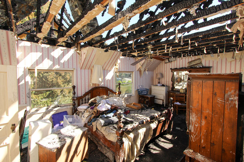 Golden Valley  smoke damaged home
